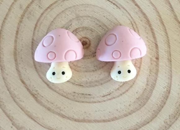 Mushroom stud earrings