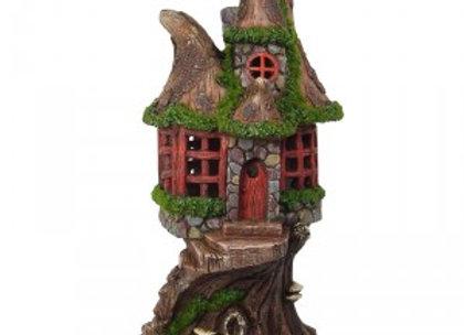 Solar Powered Fairy Garden Tree House