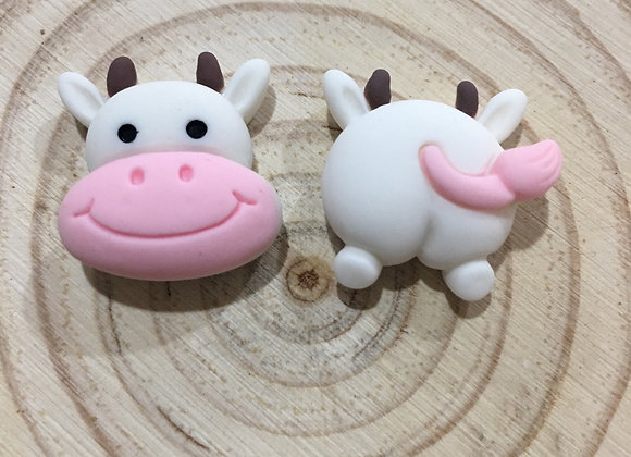 Handmade cow stud earrings