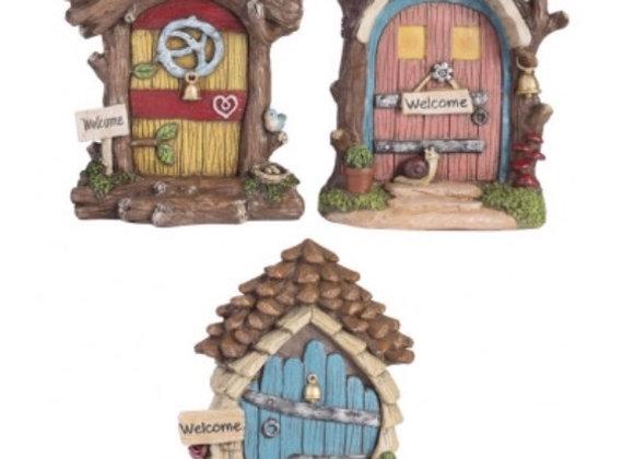 Fairy kingdom garden house door or gnome door