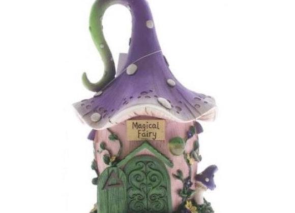 Purple pixie fairy house