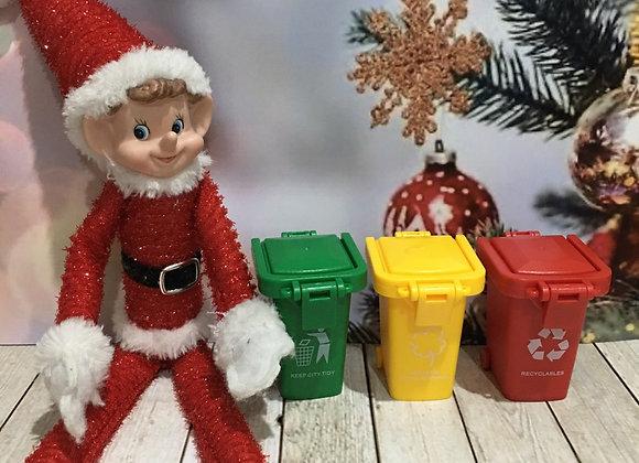 Elf sized garbage bins