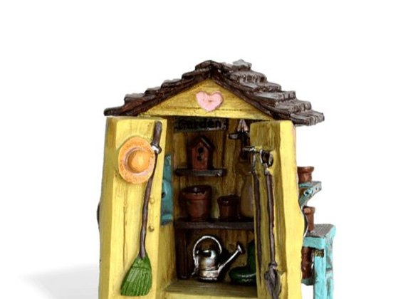 Fiddlehead Fairy Miniature Gardening Shed