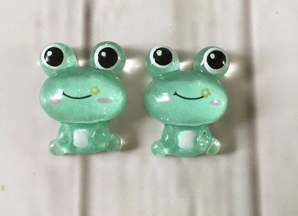 Frog stud earrings