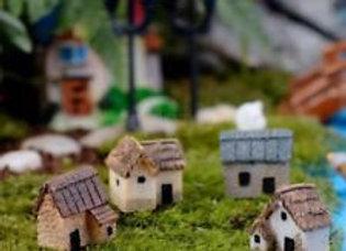 Fairy Garden Miniature Set of 4 Houses