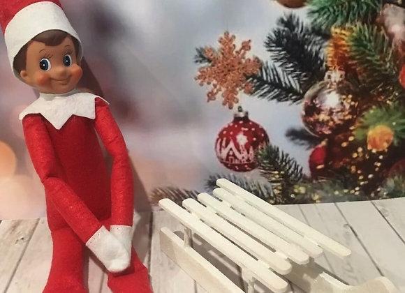 Elf sized wooden sleigh
