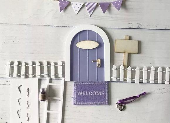 Purple fairy door starter set