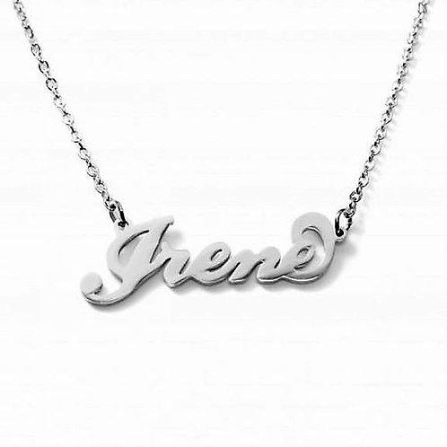 Collana e bracciale con nome Irene acciaio inossidabile Possibilità 180 nomi