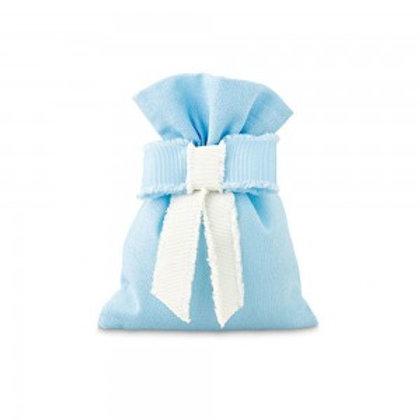 sacchetto azzurro con fiocco