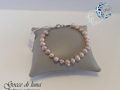 Bracciale perle malva