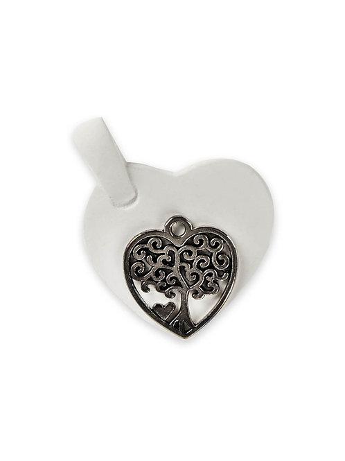 Applicazione gessetto cuore con albero della vita