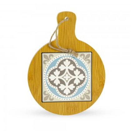 Tagliere in legno decorazioni ragusa tondo