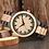 Thumbnail: Orologio in legno naturale bicolor chiaro scuro