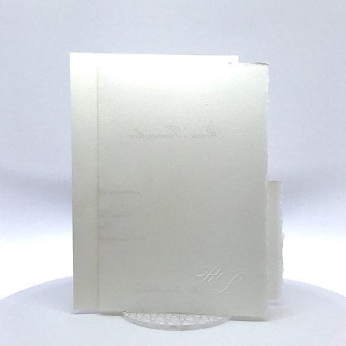 Partecipazione nozze carta amalfitana bianca