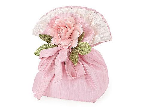 Sacchetto rosa con rosa