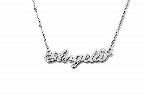 Collana con nome Angela acciaio inossidabile Possibilità di altri nomi