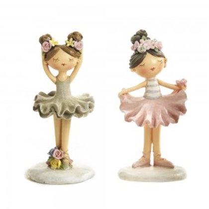 Ballerina colorata inpiedi
