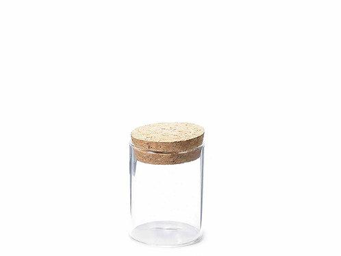 Barattolino portaconfetti in vetro con tappo in sughero
