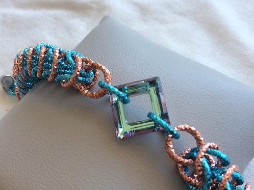 Bracciale persiana azzurro e rame