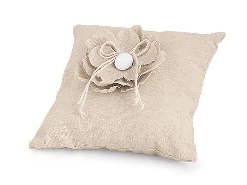 Cuscino portafedi fiore ecrue