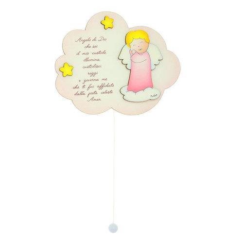 Carillon nuvoletta con angelo