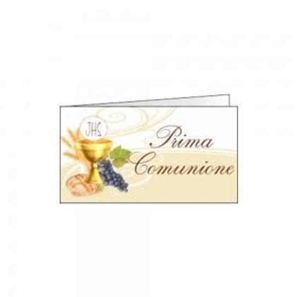 Bigliettino comunione grappolo uva