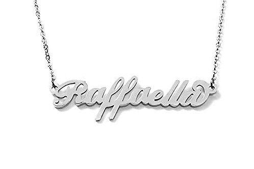 Collana e bracciale con nome Raffaella acciaio inossidabile Possibilità 180 nomi