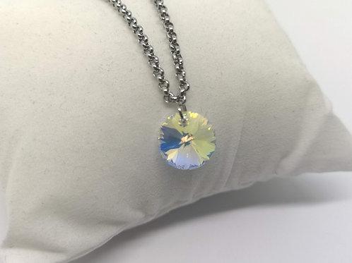 Bracciale ciondolo cerchio swarovski crystal AB