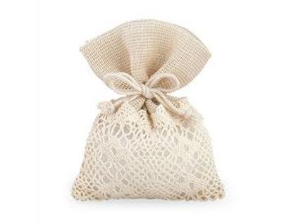 Sacchetto lino cotone