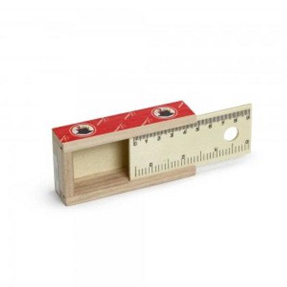 Scatola in legno con centimetro