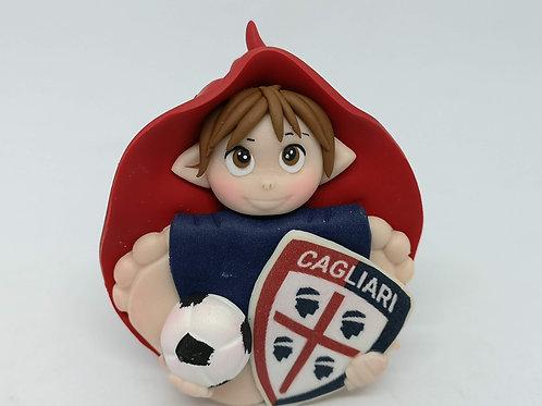 Folletto Calcio Cagliari portafortuna personalizzabile