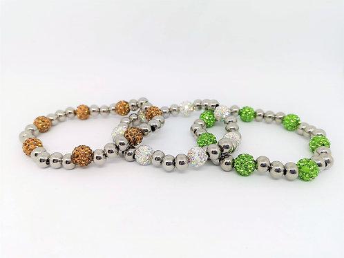 Bracciale elastico acciaio e beads