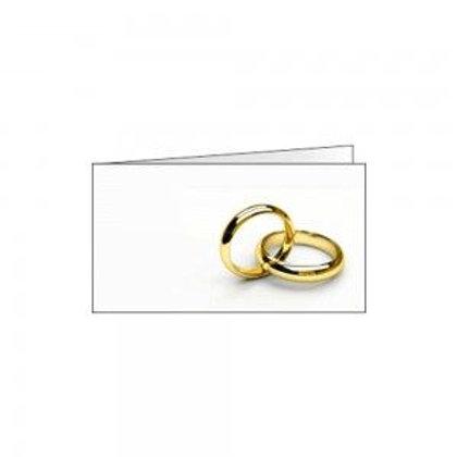 Bigliettino matrimonio fedi oro