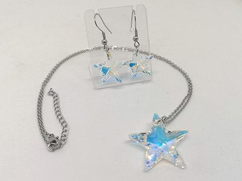 Parure Stella swarovski crystal AB