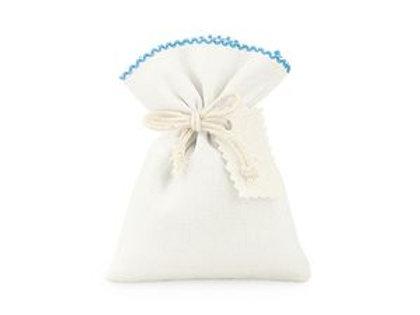 Sacchetto cotone e poliestere azzurro semplice