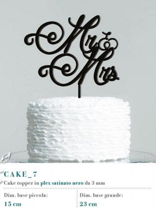 """Cake topper scritta """"Mr & Mrs"""""""