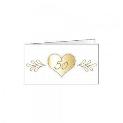 Bigliettino anniversario 50 cuore
