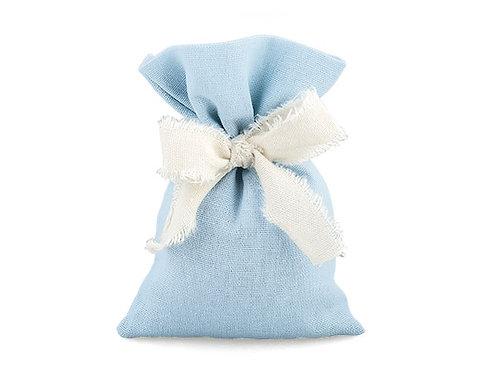 Sacchetto punte cotone azzurro