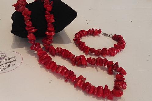 Bracciale corallo bambù rosso