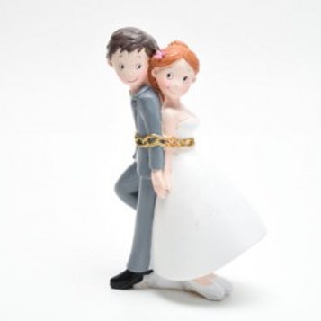 Cake topper incatenati