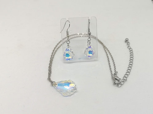 Goccia barocca swarovski crystal AB