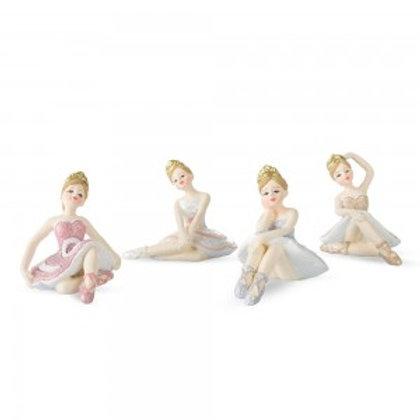Ballerina seduta in resina
