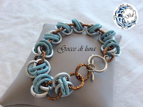 Bracciale laccio azzurro