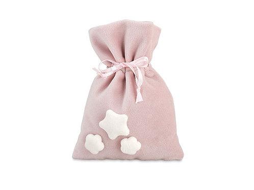 Sacchetto rosa con tre stelline