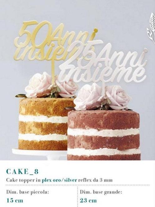 """Cake topper scritta """"25 anni insieme"""""""