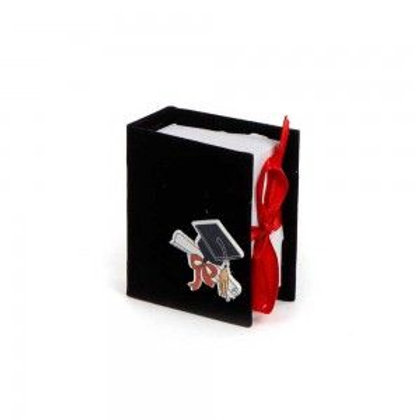 Scatoletta Portaconfetti Book Laurea Nero
