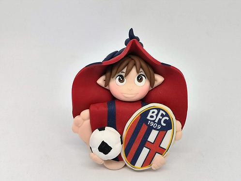 Folletto Calcio Bologna portafortuna personalizzabile