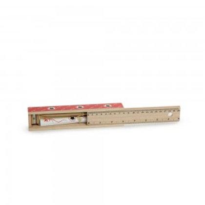 Scatola in legno con matita