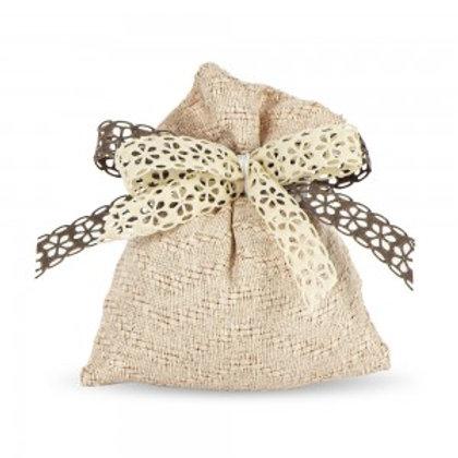 Sacchetto portaconfetti cotone intrecciato Cipria