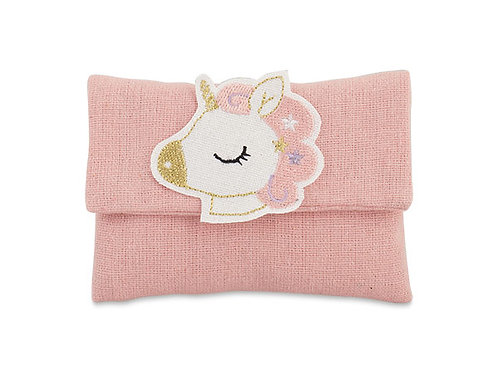 Sacchetto bustina rosa con unicorno